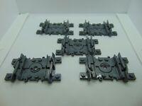 Genuine Lego Flexible Train Track Gray 5 Pieces  8867-1