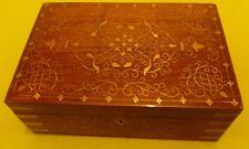 STUNNING JEWELLERY BOX ,CHISHAM  SOLID WOOD , STUNNING DESIGN AND MAKE WITH LOCK