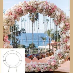 2M Large Metal Circle Wedding Arch Frame Backdrop Free Standing Events Sturdy UK