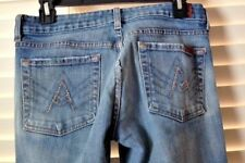 7 For All Mankind A Pocket Flare Leg Medium Wash Jeans Size 28 USA