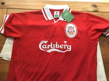Signed Score Draw Robbie Fowler  Liverpool shirt Proof Coa