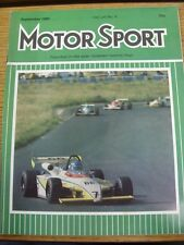 Sep-1980 Motor Sport Magazine: Weekly Motoring Newspaper Vol  LVI No.9 - Outstan