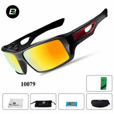 RockBros Bicycle Polarized Eyewear Goggles Full Frame Sunglasses Black Red