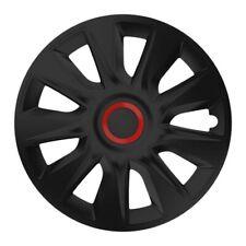 4 x Radkappen Radzierblenden 16 Zoll schwarz rot von Versaco Typ Stratos RR