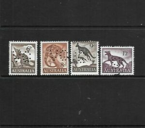 1959  Stamps Australia 'VG' Definitives  x 4 MNH 6d to 1'2