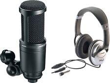 Audio Technica AT 2020 Studio Kondensator Mikrofon mit Kopfhörer SET