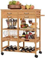 Küchenregal,Küchenwagen,Servierwagen,Küchenschrank,Küchentrolley- 4 Rollen