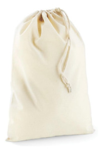 Cotton Canvas Natural Drawstring Bags Laundry Sack Travel Bag Toy Storage PE