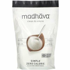 Madhava Allulose Sweetener 340g, Zero Calorie Sweetener