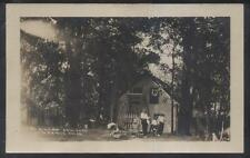 RP Postcard LAWRENCE Michigan/MI  Lake Cora Oak Cove Cabin/Cottage 1910's