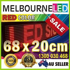 """SCROLLING PROGRAMMABLE LED  RED COLOR MESSAGE BOARD SIGN 26.7""""x7.9"""" inch"""