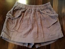 girls CREWCUTS SKORT shorts LIGHT BROWN elastic waist PULL ON skirt SIZE 8 cute