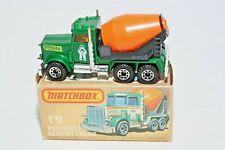 Matchbox 19g Peterbilt Cement Truck, Mint Condition in Good Original Box