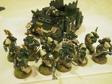 10 Dark Angel Marines Espaciales + Rhino. Táctico/veterano. pintado por ex GW