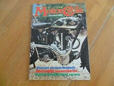 CLASSIC MOTORCYCLE MAG OCT 1983 VINCENT v HESKETH WELSH ISDT PUCH RACERS LEVIS