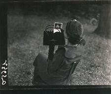 Photographie poudrier portrait miroir tirage de lecture contact années 40