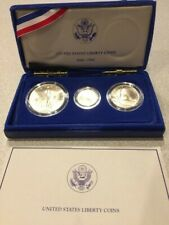 1986 Liberty 3 Coin Proof Set, Gold & Silver in Commemorative Case