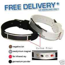 New Silicone Magnetic Bio Energy Bracelet Health Power 4in1 Silicon Wristband