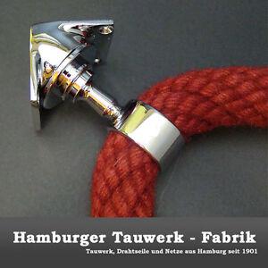 Inneneck Seilträger für 40mm Handlaufseile - verchromt
