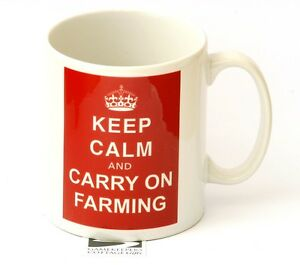 Farmers Gift Farming Gift Mug Keep calm and Carry On Farming NEW Tea Mug