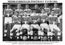 MIDDLESBROUGH F.C.TEAM PRINT 1964 ( NURSE / HORSFIELD / KAYE / GATES )