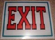 Lot Of 10 Vinyl Exit Signs 8 X 10