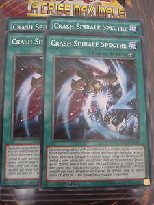 YU-GI-OH! COM CRASH SPIRALE SPECTRE PLAYSET (4 CARTES) MACR-FR057 ED1 NEUF MINT