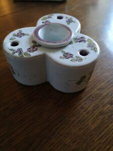 Encrier ancien porcelaine