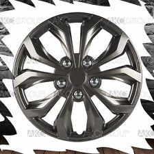 "4 x Performance Wheel Cover Gunmetal Finish Rustproof ABS Hubcap For 16"" Wheel"