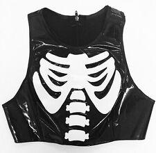 Thecreepsstore : Ribcage Pvc Top / Black / S M 8 10 12 / Goth Grunge