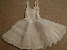 Vintage toddler full petticoat ruffled nylon & crinoline full sweep skirt 1950s