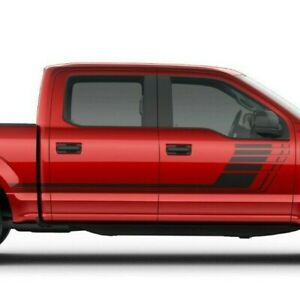 Ford F150 2015- 2020 Side Strobe Hockey Racing Rally Stripes Decals Graphics
