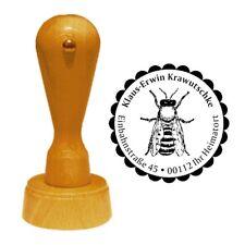 Stempel « BIENE 03 » Adressenstempel Motiv Honig Imker Honigbiene Insekt Imkerei