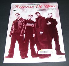 SHEET MUSIC FOR THE SONG BECAUSE OF YOU RECORDED BY 98 DEGREE 1998