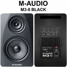 M-AUDIO M3-8 BLACK 440w Tri-Amp Active Nearfield Studio (2) Monitors (1-Pair)