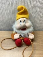 Disney Snow White Seven Dwarf Happy Bag Plush Soft Toy Rare Collectable Backpack