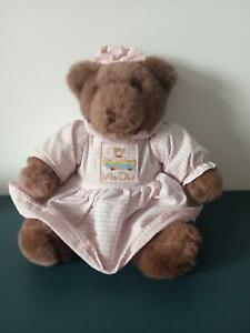 V6/ Doudou peluche ours fille assis  Baby Dior