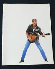 """GEORGE MICHAEL FAITH TOUR 1988 CONCERT BOOK PROGRAM 14"""" X 11"""" Excellent"""