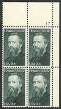 #2094 20c Herman Melville, Plate Block, Mint **ANY 4=FREE SHIPPING**