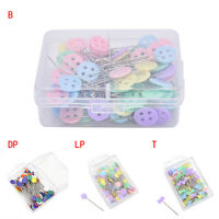 100X Patchwork Pins Flower Button Head Pins DIY Quilting Tool Sewing Accessor LD