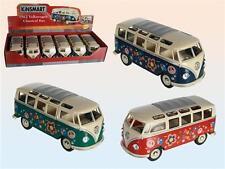 MODELL AUTO MAßSTAB 1:24 VW VOLKSWAGEN BULLI SAMBA-BUS 62 METALL KULT SAMMLER !!