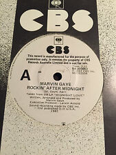 MARVIN GAYE - - ROCKIN' AFTER MIDNIGHT - - Rare 1982 Australian PROMO 7""