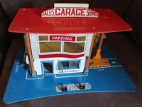 "Intoport FOLD-A-WAY 18"" Vintage TOY GARAGE CENTRE 60s/70s RARE Diecast 1/60 Cars"