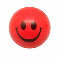 2x(Happy Red Smile Face Bouncy Ball SH Q0F1 T7Q2 F4P6