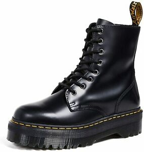 Martens Dr Jadon Leather Doc Black Women White US 1 UK 2 Plateform Boots 8 Sizes