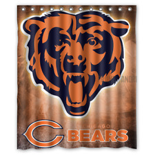 Personalized Chicago Bears Football 60 x 72 Inch shower curtains Bath
