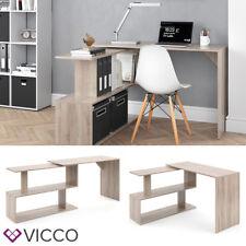 VICCO Eckschreibtisch LEVIA Sonoma Eiche - PC Tisch Arbeitstisch Computer Büro
