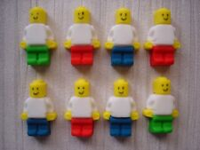 lego figures x 8 ideal for cupcake / cake decorations /  birthday parties