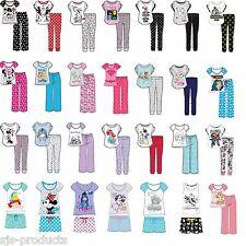 Womens Ladies Character Pyjamas Set Nightwear Pjs Warm Novelty Disney Marvel NEW