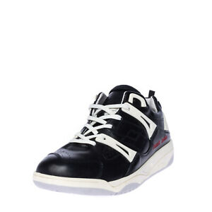 RRP €150 DAMIR DOMA x LOTTO Leather Sneakers EU41 UK7.5 US8.5 Logo Made in Italy